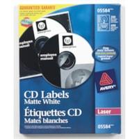 Étiquettes permanentes pour CD/DVD Avery