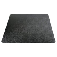 Deflecto EconoMat Smooth-Back Vinyl Chairmat for Hard Floors, Black, 45