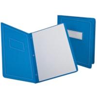 Couvertures de présentation avec bordure et rubrique gaufrées Grand & Toy, bleu pâle, format lettre, emb. de 5