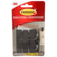 Pinces à ressort pour usage intérieur Command, petite taille, ardoise noire, capacité de 7 1/2 lb, 8 pinces et 12 bandes