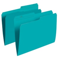 Grand & Toy Coloured File Folders, Teal, Letter-Size, 100/BX