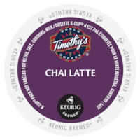Timothy's Chai Latte Tea K-Cup Pods, Single-Serve, Box of 24