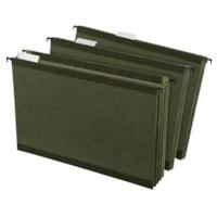 Pendaflex SureHook Reinforced Hanging Pocket Files, Green, Legal Size, 3 1/2
