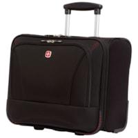 SwissGear Wheeled Laptop Case, Black, Fits Laptops up to 15.6
