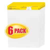 Tablette de feuilles autocollantes en format chevalet blanc Post-it, emballage de 6 pochettes