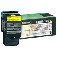 Lexmark C54x, X54x Yellow High Yield Return Program Toner Cartridge (C540H1YG)
