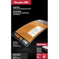 Pochettes transparentes de plastification à chaud semi-flexibles RetrieveIt GBC Swingline