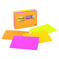 Post-it Super Sticky Meeting Notes in Rio De Janeiro Colour Collection, Unlined, 6