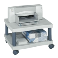 Safco Under Desk Wave Design Printer Stand, Grey
