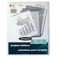 Wilson Jones Plastic Project Folders, Clear, Letter Size, 10/PK