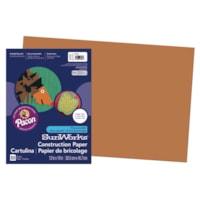 Papier de bricolage à haut grammage SunWorks Pacon, brun, 12 po x 18 po, emb. de 50