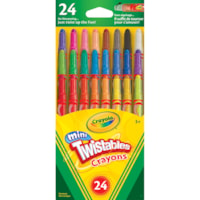 Mini crayons Twistables Crayola, couleurs variées, emb. de 24
