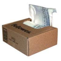 Fellowes Powershred Waste Bags for Household/Deskside and SOHO Shredders, Clear, 100/CT