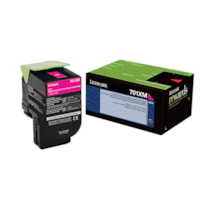 Lexmark 701XM Magenta Extra-High Yield Return Program Toner Cartridge (70C1XM0)