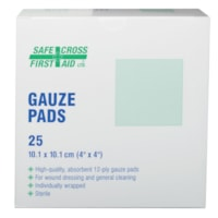 SAFECROSS Sterile Gauze Pads, 4