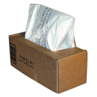 Sacs pour déchiqueteuses haute sécurité Powershred Fellowes, transparent, boîte de 50