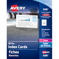 Avery Index Cards, White, 3