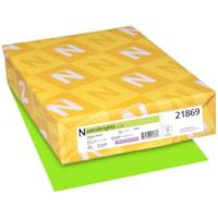 Papier couverture Astrobrights Neenah, couleur vert Vulcan Green, format lettre, certifié FSC et Green Seal, 65 lb, rame