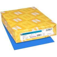 Papier couverture Astrobrights Neenah, couleur bleu Celestial Blue, format lettre, certifié FSC et Green Seal, 65 lb, rame