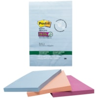 Post-it Super Sticky Recycled Notes In Bali Colour Collection, Lined, 4