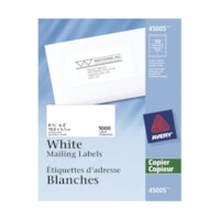 Étiquettes d'adresse blanches Avery