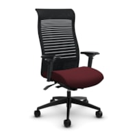 Global Loover High-Back Office Chair With Weight-Sensing Synchro Tilter, Cerise, Terrace Fabric
