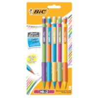 BIC Matic Grip Mechanical Pencils, Black, Bold 0.9 mm, 5/PK