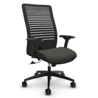 Global Loover High-Back Office Tilter Chair, Ironwork Grey, Terrace Fabric