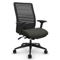 Global Loover Mid-Back Office Tilter Chair, Ironwork Grey, Terrace Fabric