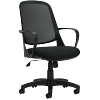 Offices To Go Amira Mid-Back Tilter Chair, Black, Fabric/Mesh