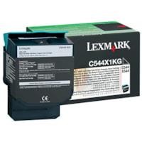 Lexmark C544, X544 Black Extra-High Yield Return Program Toner Cartridge (C544X1KG)