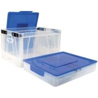 Caisse rabattable de format lettre/légal avec bleu couvercle Storex