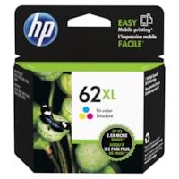 Cartouche d'encre à rendement élevé HP 62XL (C2P07AN), tricolore