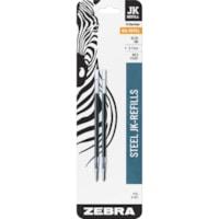 Recharges pour stylos gel en acier inoxydable G-301 JK Zebra, bleu, emb. de 2