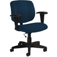 Offices To Go Yoho Low-Back Task Chair, Navy, Quilt Fabric