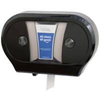 Cascades PRO Tandem Jumbo Bathroom Tissue Double Roll Dispenser, Black