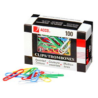 Acco Vinyl-Coated Paper Clips