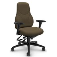 Global Tritek Ergo-Select Multi-Tilter High-Back Ergonomic Chair, Taupe, Terrace Fabric