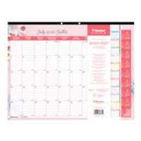 Blueline 18-Month Academic Colourful Monthly Desk Pad, 22