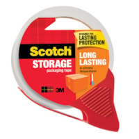 Scotch Long Lasting Storage Packaging Tape with Dispenser, 48 mm x 35 m, Single Roll