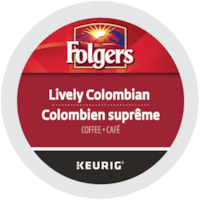 Folgers Single-Serve Coffee K-Cup Pods, Lively Colombian, 24/BX