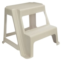 Rubbermaid Commercial Products 2-Step Step Stool, Almond