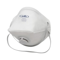Dentec AD4 Series N95 Flat-Fold Disposable Respirators, With Valve, 10/BX
