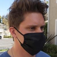 Masque de protection en tissu Onyx + Blue, taille adulte, couleurs variées (aucun choix de couleurs pour les commandes sur livraison)