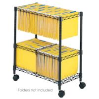 Safco 2-Tier Mobile Wire File Cart, 25 3/4