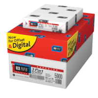 NCR Superior Carbonless Paper, 3-Part, Reverse, White/Canary/Pink, Letter Size, Carton of 5,000 sheets
