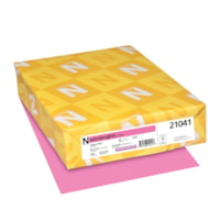Neenah Astrobrights Cover Paper, Pulsar Pink, Letter-Size, FSC Certified, 65 lb., Ream