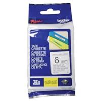 Brother TZe Label Tape Cassette, Black Type/White Label, 6 mm x 8 m