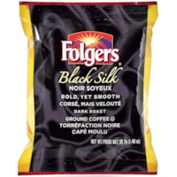 Folgers Ground Coffee Portion Packs, Black Silk, 1.4 oz, 42/BX
