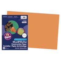 Papier de bricolage à haut grammage SunWorks Pacon, orange, 12 po x 18 po, emb. de 50